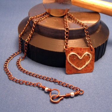 Copper Sheet with Fine Silver Heart