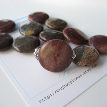 Apple Jasper Ring ~ Pick your stone and ring size