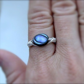 Abalone Shell Ring ~ Pick your stone and ring size