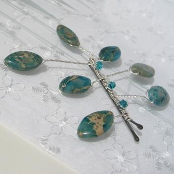 Aqua Terra Jasper Hair Pin