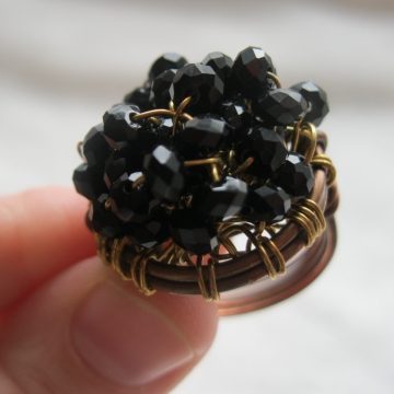 Crystal Cluster Cocktail Ring
